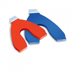 Articulating Paper Horseshoe Red/Blue 144/pk