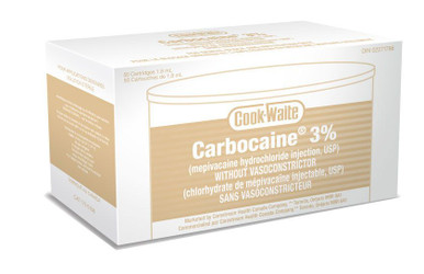 Carbocaine 3% Plain 50/Box