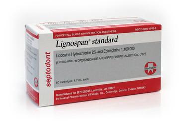 Lignospan Standard 2% 1:100000 EPI 50/Box