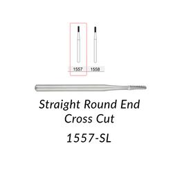 Carbide Burs. FG-1557-SL Straight Round End Crosscut. 5 pcs.