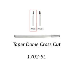 Carbide Burs. FG-1702-SL Taper Dome Crosscut. 5 pcs.