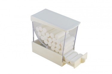 Cotton Rolls Dispenser - White