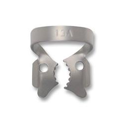 Rubber dam clamp. 13A satin steel