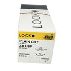 Suture C-16 Plain Gut 18in 3-0 12/Bx
