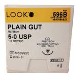 Suture Plain Gut C-3 5-0 18in 12/Bx