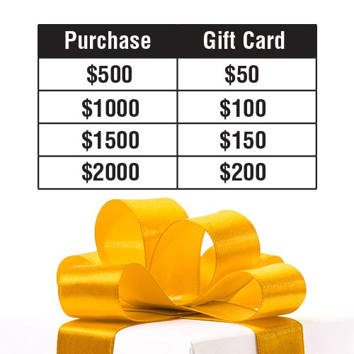 Gift Card - Value per order