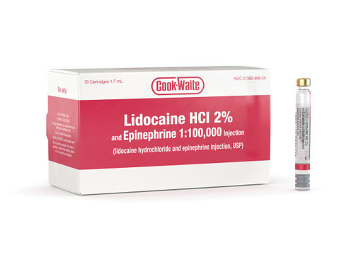 Lidocaine 1:100M Anaesthetic 50/Box