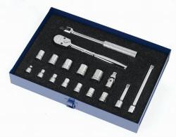 8 - 19MM Williams 3/8 Dr Socket & Tool Set 12 Pt 17 Pcs - MSB-17F