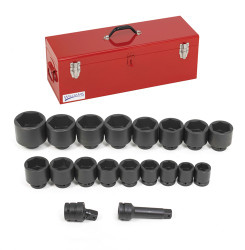 "Williams 1"" Drive Impact Socket Set - 19 Piece"