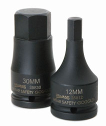 "12MM Williams 3/4"" Drive Impact Hex Bit Driver"
