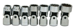 "3/8 - 3/4"" Williams 3/8 Dr Universal Socket Set 12 Pt 7 Pcs - WSB-7U"