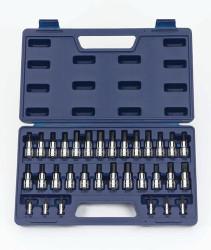 "Williams 1/4"" & 3/8"" Dr Hex, Screwdriver & Torx Bit Socket Set 32 Pcs & Tool Box - 50681"