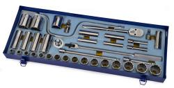 "3/8 - 1 1/2"" Shallow & 1/2 -1 1/8"" Deep Williams 1/2"" Dr Socket & Tool Set 12 Pt 38 Pcs & Tool Box - WSS-38FTB"