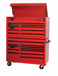 "55"" Williams Roller Cabinet - 11 Drawer - Red W55RC11"