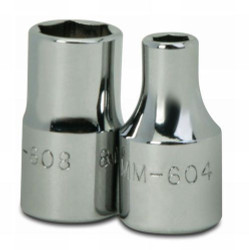 "4MM Williams 1/4"" Dr Shallow Socket 6 Pt - MM-604"