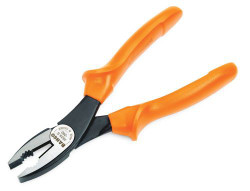 "7"" Bahco 1000V Side Cutting Combination Plier with Insulated Grip - 2628 S-180"