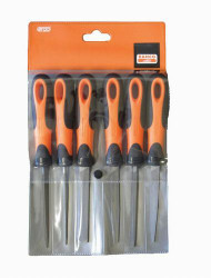 "4"" Bahco File Set with Plastic Handles 6 Piece - 1-476-04-3-2"