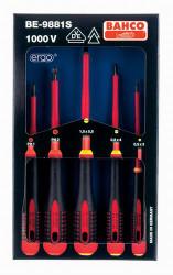 Bahco 1000 V Ergo Screwdriver Set 5 Piece - BE-9881S