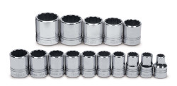 "Williams 1/2"" Dr Impact Socket Set 15 Pcs - MSS-15SRS"
