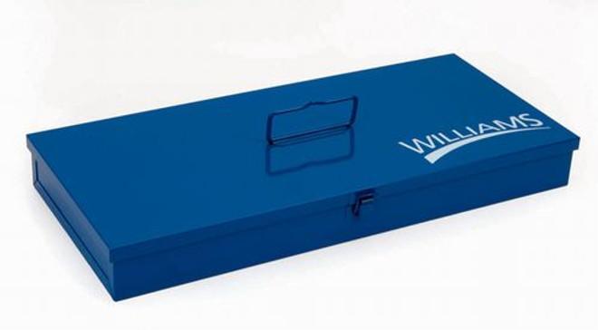 """18"""" x 8"""" x 2"""" Williams Toolbox - Blue TB-103"""