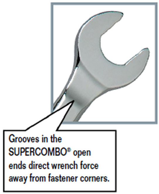 1//4-Inch Williams 11108 12 Point Combination Wrench Satin Chrome Finish SnapOn