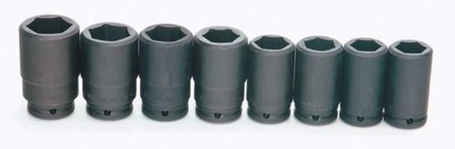 "1 9/16 - 2"" Williams 3/4"" Dr Deep Impact Socket Set 6 Pt 7 Pcs & Clip Rail - WS-16-7H"
