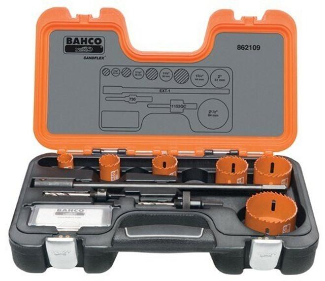 Bahco Electricians Holesaw Set 9 Pieces - 862109