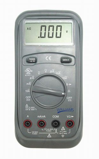 Williams Digital Compact Multimeter - 2,000 Count LCD - 40281