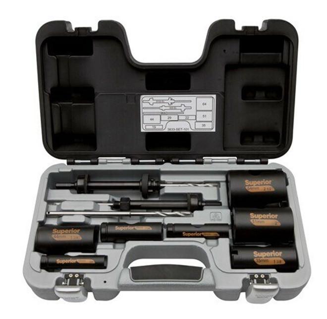 Bahco Superior Holesaw Set 10 Pcs - 3833-SET-101