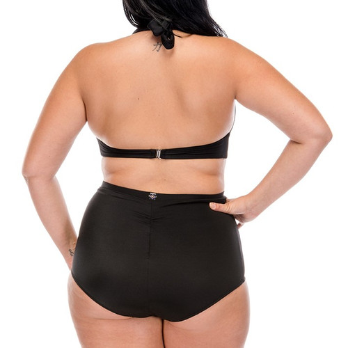 Pin Up Two Piece Swimsuit - Black