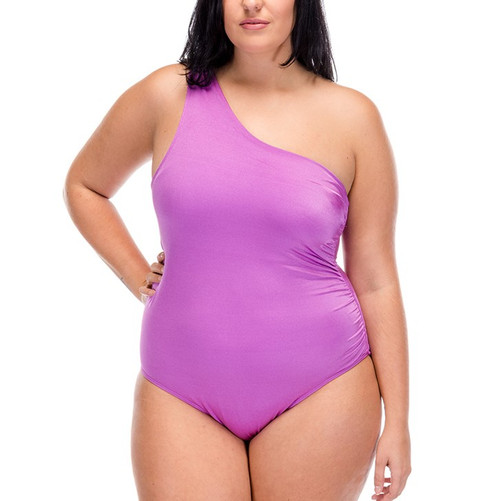 Tiki Lady One Piece Swimsuit - Orchid