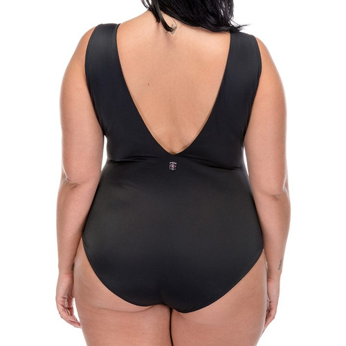 Deep Vee One Piece Swimsuit - Orchid