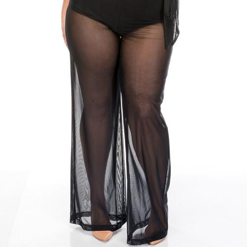 High Waist Cover Trouser - Black
