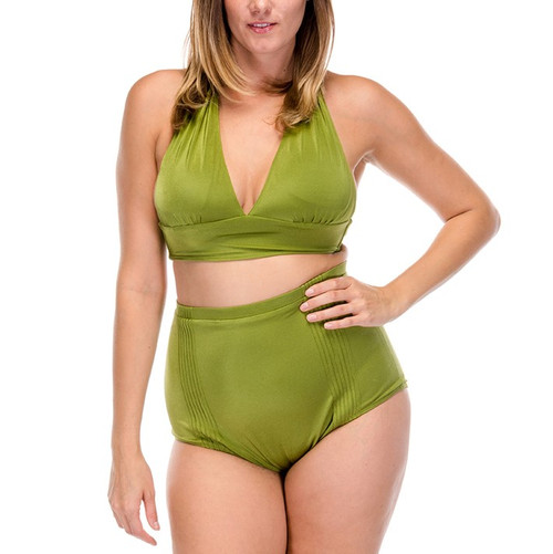 Pin Up Two Piece Swimsuit - Olive