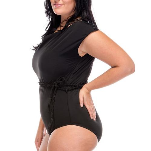 Modest Miss One Piece Swimsuit - Black