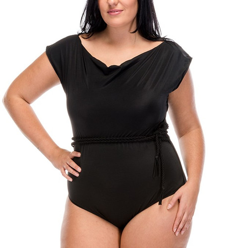 Modest Miss One Piece Swimsuit - Black