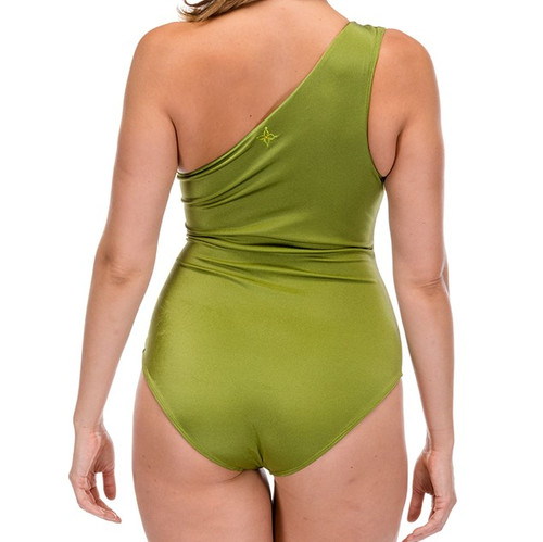 Tiki Lady One Piece Swimsuit - Olive