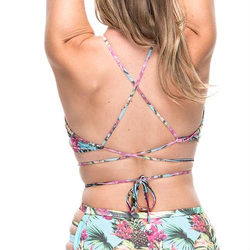 Strappy Bikini Top- Pineapple Print