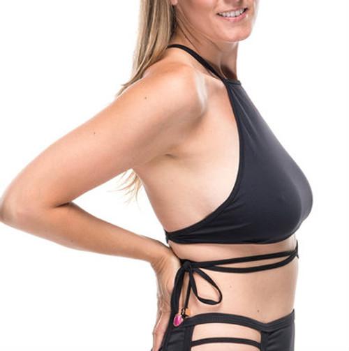 Strappy Bikini Top - Black