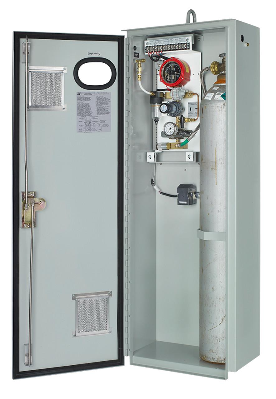 N2-1 with cabinet door open