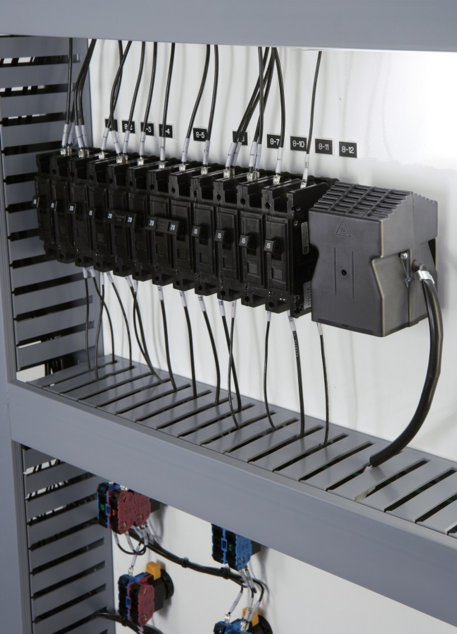 photo of heater in electrical component cabinet