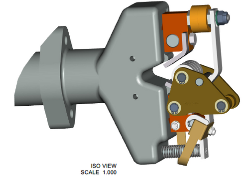 Isometric view of end of diverter switch