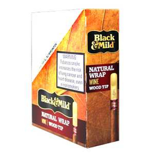 Black & Mild Natural Wrap Wine Wood Tip 99c Cigars