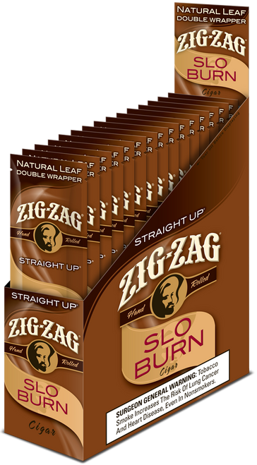 Zig Zag Wraps Slo Burn Straight Up 15Ct