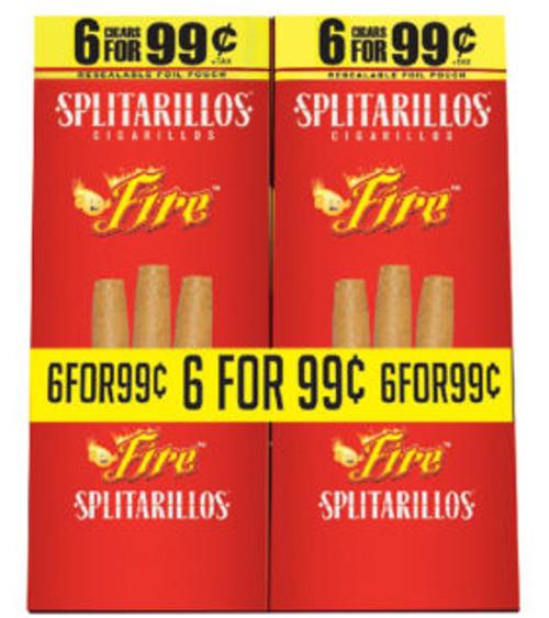 SPLITARILLOS FIRE CIGARILLOS POUCH 6 FOR 99c