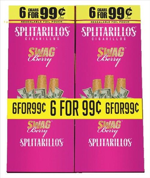 Splitarillos Swag Berry Cigarillos Pouch 6 For 99c