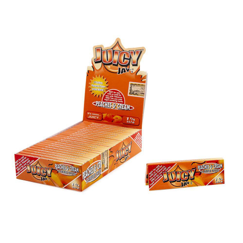 Juicy Jay Papers Peaches & Cream 1 1/4 24Ct