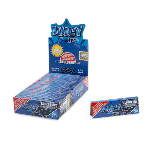 Juicy Jay Papers Blueberry 1 1/4 24Ct