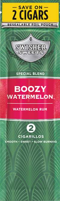 Swisher Sweets Cigarillos Foil Boozy Watermelon 30 Pouches of 2