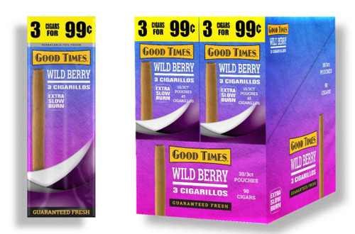 Good Times Wild Berry Cigarillos 30 Packs of 3